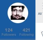 Symmetrie der Follwer- und Following-Zahl bei Twitter.